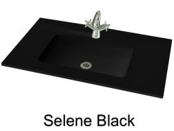 Wash Basins width 160 cm resin Selene black