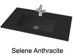 Wash Basins width 200 cm resin Selene Anthracite
