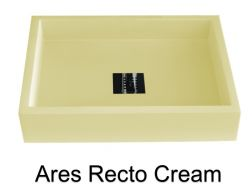 Washbasin, 50 cm wide, 38 cm deep resin Ares Recto