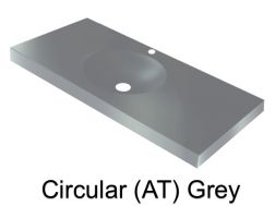 Wash Basins width 160 cm resin Circular smooth (AT) grey