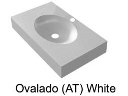 Wash Basins width 140 cm resin Ovalado (AT) white