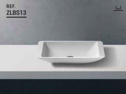 Washbasin 35x60 cm Resin Solid Surface, White ZLBS13.