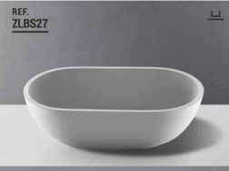 Washbasin 35x65 cm Resin Solid Surface, White ZLBS27.