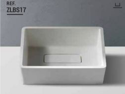 Washbasin 33x40 cm Resin Solid Surface, White ZLBS17.