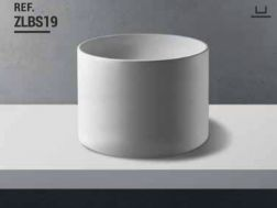 Washbasin  Ø 43 x 45 cm Resin Solid Surface, White ZLBS19.