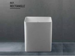 Design floor Corian sink-type, resin Solid-Surface, white RECTANGLE