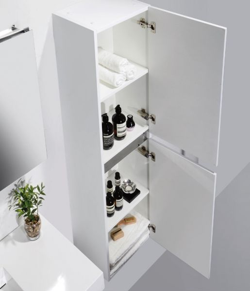 Hanging Bathroom Cabinet 100 Cm, Mirrored White Mirror Cabinet   NOVO 1000