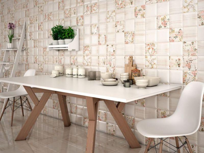 Floor and wall tiling mural wall mural 15x15 uneven and trendy art deco elysian decor - Trendy deco eetkamer ...