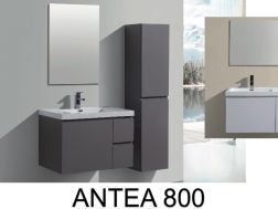 Bathroom cabinet in 80 cm, suspended, with three drawers - ANTEA 800