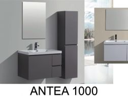 Bathroom cabinet in 100 cm, suspended, with three drawers - ANTEA 1000