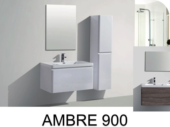 hanging bathroom cabinet 90 cm two drawers ambre 900