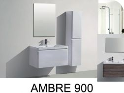 Hanging bathroom cabinet, 90 cm, two drawers - AMBRE 900