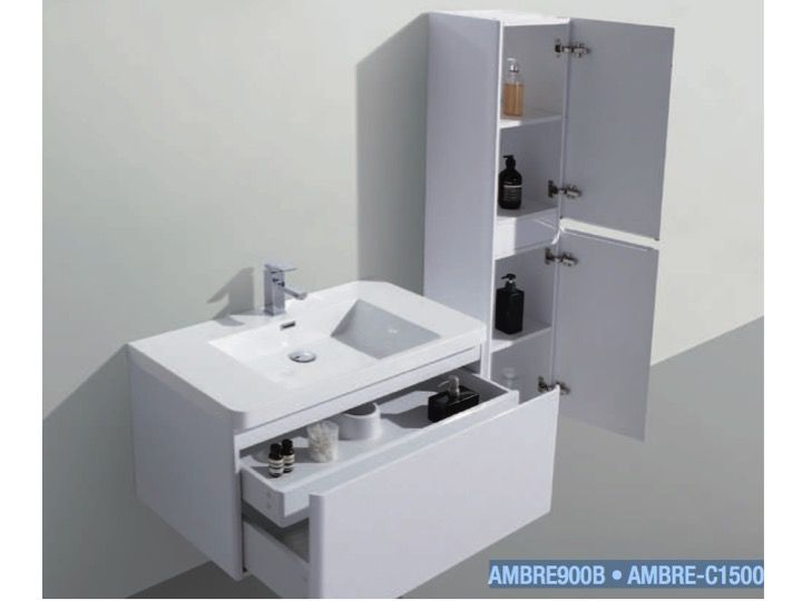 Hanging Bathroom Cabinet Part - 19: Hanging Bathroom Cabinet, 90 Cm, Two Drawers - AMBRE 900