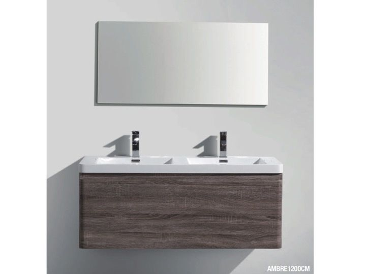 Hanging Bathroom Cabinet, 90 Cm, Two Drawers   AMBRE 900