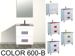 Bathroom cabinet with washbasin and mirror - COLOR 600B