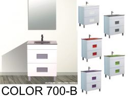 Bathroom cabinet with washbasin and mirror - COLOR 700B