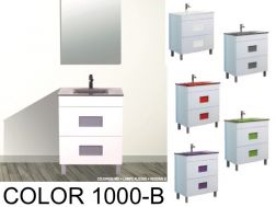 Bathroom cabinet with washbasin and mirror - COLOR 1000B