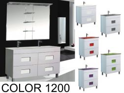 Bathroom cabinet with washbasin and mirror - COLOR 1200