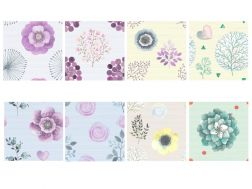 Wall mural 15x15 - Uneven and trendy textile - Flower Dream Decor 15 x 15 cm
