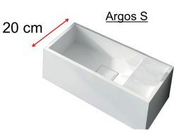 washbasin Corian type 20 cm Resin Solid Surface, White ARGOS S