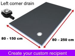 Shower tray to be tiled to measure, small size and large dimension, left evacuation - Wedi Fundo Primo