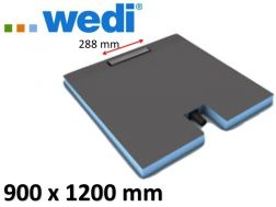 Shower tray to be tiled with drainage linear drain and integrated flow - WEDI Fundo Plano Linea 1200 x 900 mm