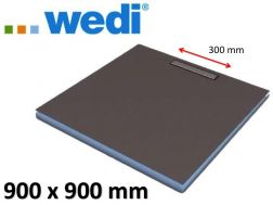 Shower tray to be tiled, gutter, linear flow grille - Wedi Mundo Riolito Neo 900 x 900 mm