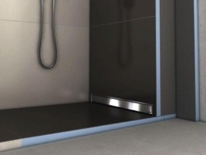 tile shower tray with wall drain wedi fundo riolito discreto 900 x 900 mm
