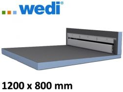Tile shower tray with wall drain - Wedi Fundo Riolito Discreto 1200 x 800 mm