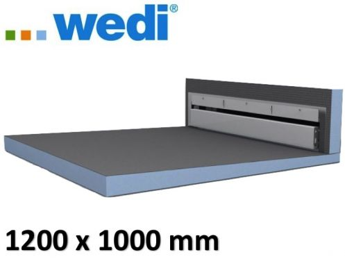 Tile shower tray with wall drain - Wedi Fundo Riolito Discreto 1200 x 1000 mm