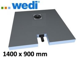 Shower tray to be tiled, with integrated outflow - Wedi Fundo plano 1400 x 900 mm