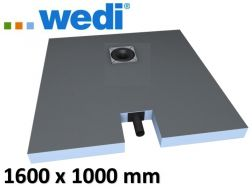 Shower tray to be tiled, with integrated outflow - Wedi Fundo plano 1600 x 1000 mm