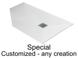 Custom shower tray, all creations on plan - SPECIAL