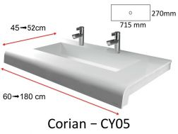 Solid-Surface toilet top, mineral resin type Corian - Puzzle Acrymold CY05-XL, white.