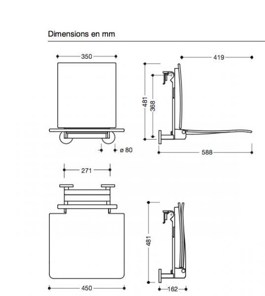 Bathroom furniture, sink, washbasins PMR Accessoires - Shower seat ...