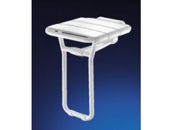 Shower seat with PMR liable foot articulated returning - Bathroom Mobility Aids