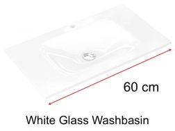 Glass Washbasin 46 x 60 - white