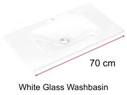 Glass Washbasin 46 x 70 - white