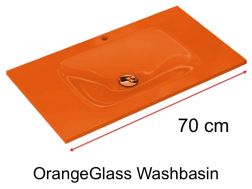Glass Washbasin 46 x 70 - orange