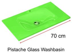 Glass Washbasin 46 x 70 - pistache