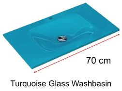 Glass Washbasin 46 x 70 - Turquoise