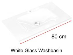 Glass Washbasin 46 x 80 - white