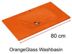 Glass Washbasin 46 x 80 - orange