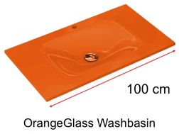 Glass Washbasin 46 x 100 - Orange