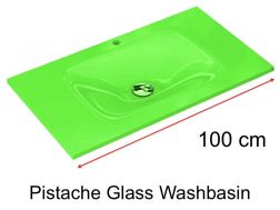 Glass Washbasin 46 x 100 - Pistache
