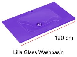 Glass Washbasin 46 x 120 - lilla
