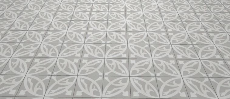 Floor And Wall Tiling Aspect Cx Ciment Zelie Gris