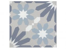 SYRAH BLEU 20x20 - Floor tile with cement tiles, porcelain.
