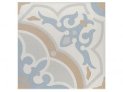 GAETINE BLEU 20x20 - Floor tile with cement tiles, porcelain.