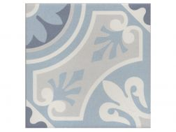 LILOU OCEAN 20x20 - Floor tile with cement tiles, porcelain.